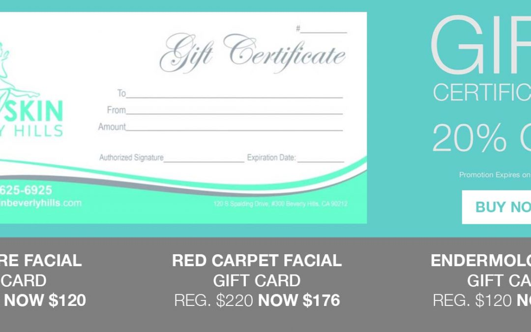Get 20% OFF Gift Certificates Now!